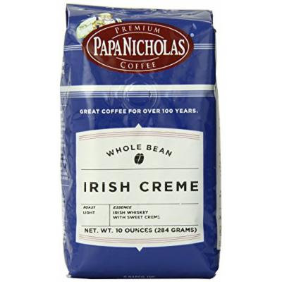 PapaNicholas Coffee Whole Bean Coffee, Irish Creme, 10 Ounce