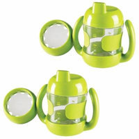 OXO Tot Sippy Cup with Bonus Training Lid, Set of 2, 7 Ounce - Green