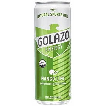 Golazo Organic Caffeinated Electrolyte Drink, Mango Lime, 12 Ounce