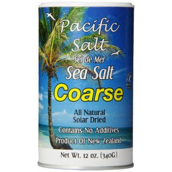 Pacific Salt Coarse New Zealand Sea Salt, 12-Ounce (Pack of 6)