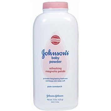Johnson & Johnson Baby Powder with Magnolia Petals - 15 oz(pack of 2)