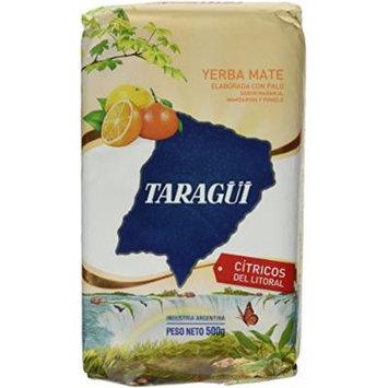 Taragui Loose Yerba Mate Con Palo - Citricos Del Litoral ( 10 Packs- 1/2 Kilo Each )