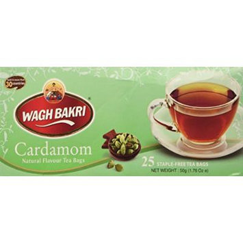 WAGH BAKRI Cardamom Natural flavour tea bags 1.76 oz