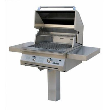 Solaire 30-Inch InfraVection Propane In-Ground Post Grill, Stainless Steel