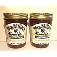 Mrs. Miller's Amish Homemade Gooseberry Jam, 8 oz - Pack of 2