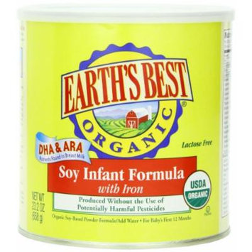 Earth's Best Organic Soy Infant Formula with Iron, 23.2 Ounce (Pack of 4)