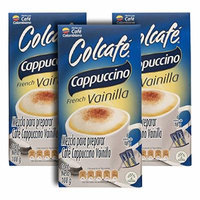 Colcafe French Vanilla Cappuccino Colombian Coffee Instant Mix, 6-Count Envelopes (Pack of 3).