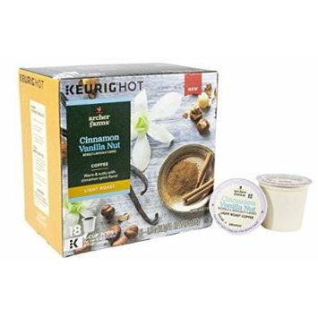 Archer Farms K-Cup Cinnamon Vanilla Nut Coffee Light Roast 18 Count (1 Box)