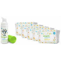Babyganics Cream Infused Baby Wipes, 100 Count, 5 Pack with Hand Sanitizer