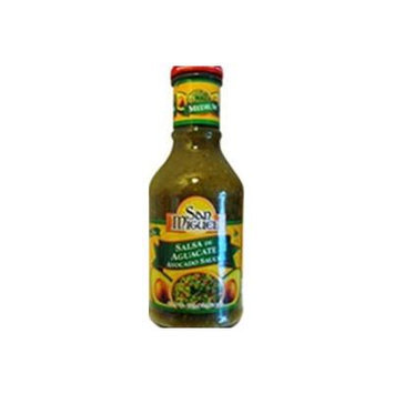San Miguel Salsa 16oz Glass Bottle (Pack of 3) Select Flavor Below (Salsa De Aguacate - Avocado Sauce)