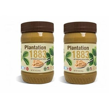 Bell Plantation Creamy 1883 Peanut Butter 16 Oz 2 Pack