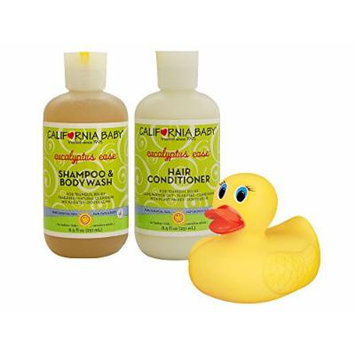 California Baby Eucalyptus Ease Shampoo & Body Wash with Hair Conditioner and Bonus Bath Duck