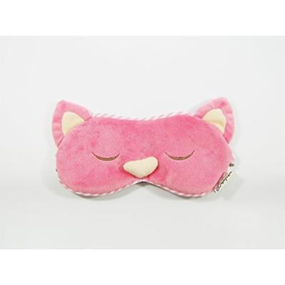 Eye Mask Shades Blindfold Sleeping Warm Cold Gel Pack Travel Comfortable Night's Bestever (Cat-pink)