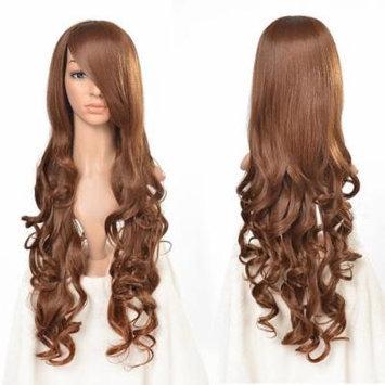 AGPtek 33 inch Heat Resistant Curly Wavy Long Cosplay Wigs-Brown