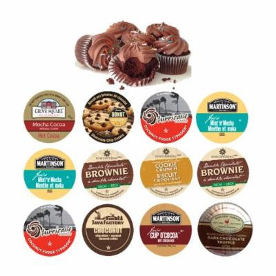 18 cup Delicious CHOCOLATE Paradise Sampler! Coconut Fudge, Fudge Brownie, Dark Chocolate Truffle, Choconut+