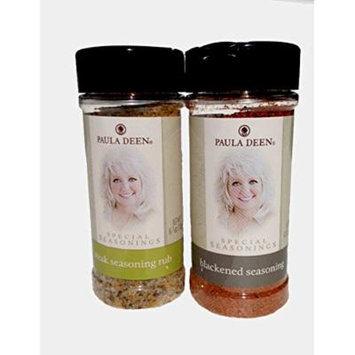 Paula Deen Gift Bundle (Large Steak Seasoning Rub & Large Blackened Seasoning), 2 Items