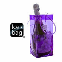 Ice Bag Is Portable and Folds for easy Storage - Purple 107623, Set of 3