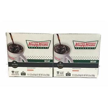 Krispy Kreme Doughnuts Decaf K-cup Packs, 5.9 Oz - 18 Count (2-pack) = 36 Total Count