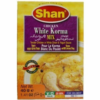 Shan Chicken White Korma Mix - 40 Gms X 6 Pcs