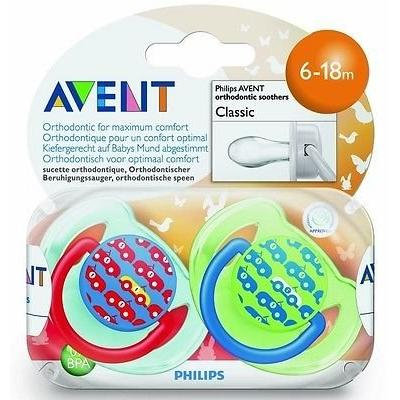 Philips Avent 6-18 Months Classic Orthodontic Soothers Scf172/22 Boys Bpa-free Good Gift for Mom and Baby Fast Shipping Ship Worldwide