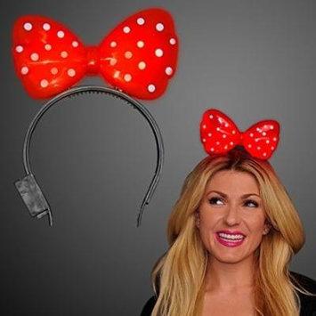Red Light Up Bow Headband (Set of 12)