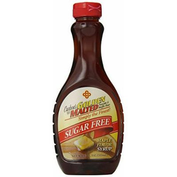Carbon's Golden Malted Sugar Free Maple Flavor Syrup, 12 Ounce (Pack of 12)