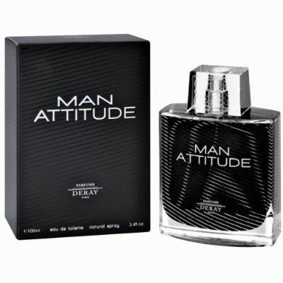Deray Man Attitude Eau de Toilette Spray, 3.4 Ounce