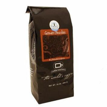 Coffee Beanery German Chocolate Flavored Coffee SWP Decaf 16 oz. (Whole Bean)