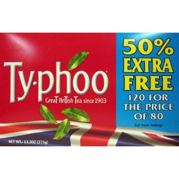 Typhoo British Tea Bonus Pack with 120 Bags!