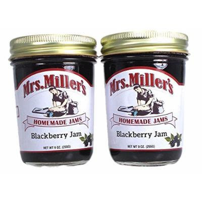 Mrs Millers Blackberry Jam (Amish Made) ~ 2 / 8 Oz. Jars