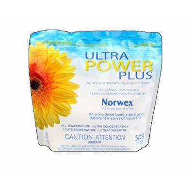 Norwex Ultra Power Plus Powder Laundry Detergent, Concentrated, Excellent for Cloth Diapers (1 Bag)