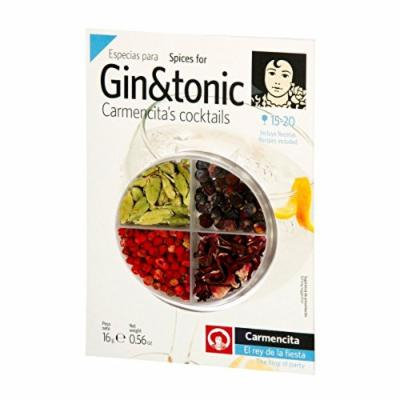 Gin and Tonic 4 Spices Kit Gin Flavoring Spices Carmencita Gin Botanicals