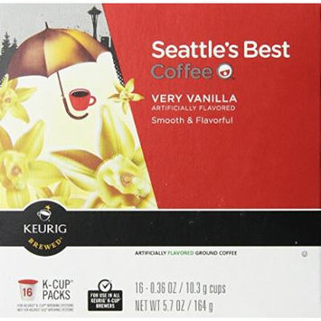 Seattle's Best Coffee - Very Vanilla K-cup 16 Packs (2 Pack - 32 K-cups)