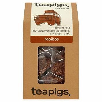 teapigs Rooibos Tea Temples, 50 Count
