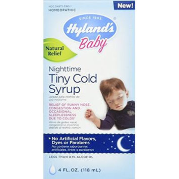 Hyland's Homeopathic Cold Baby Syrup, Nighttime Tiny, 4 Fluid Ounce (3 Pack)