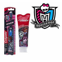 Monster High - Ready...Set...Brush! 2 Piece Set Includes: (1) Colgate Monster High Extra Soft Spin Powered Toothbrush & (1) Colgate Monster High Mild Bubble Fruit Toothpaste, 4.6 oz