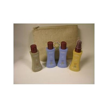 Neuma Travel Bag - Moisture Shampoo 2.5oz, Moisture Conditioner 2.5oz, Smoothing Creme 2.5oz, Argan Treatment 2.4oz