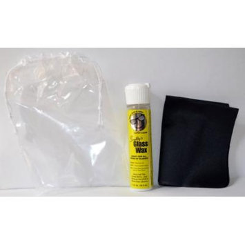 Smittys Glass Wax and Screen Cleaner with Carrying Pouch, Bottle and Cloth Cleaner