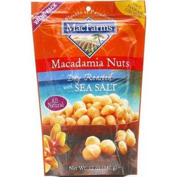 MacFarms Dry Roasted with Sea Salt Macadamia Nuts, 12-Ounce Bag