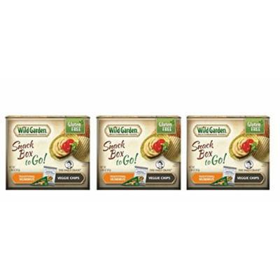 Wild Garden Gluten Free Snack Box To Go! Traditional Hummus With Veggie Chips - Pack of 3