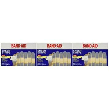 Band-Aid Sheer Adhesive Bandages, 300 Count