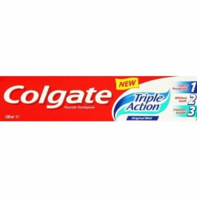 Colgate Triple Action Fluoride Toothpaste Original Mint 100Ml - Pack Of 4