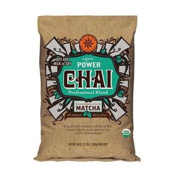 David Rio Dairy Free, Organic Power Chai with Matcha, Four 3 Lb. Bags