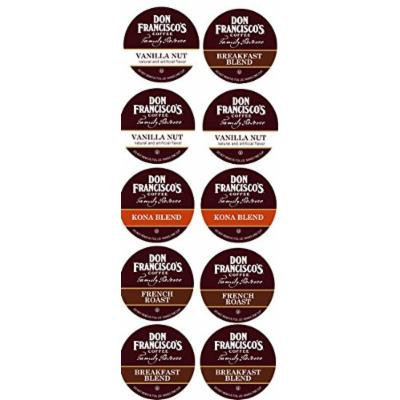10 Cup Don Francisco's® Sampler! Breakfast Blend, KONA, Vanilla Nut & French Roast!