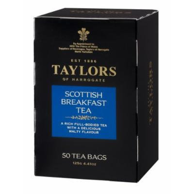 Taylors of Harrogate Scottish Breakfast Tea, 50-Count Tea Bags (Pack of 6)