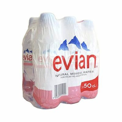 Evian - Natural Mineral Water - 6 x 500ml (Case of 5)