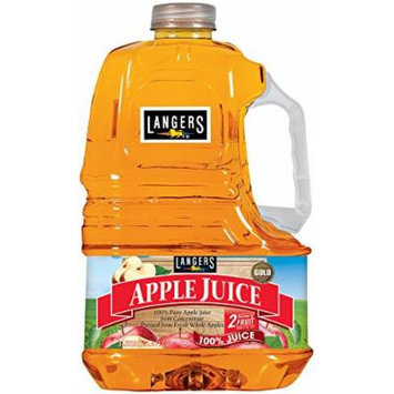 Langers 100% Juice, Apple, 101.4 Ounce (Pack of 4)