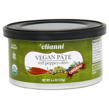 Elianni Pate Vegan Red Pepper Olives, 4.40 Ounce