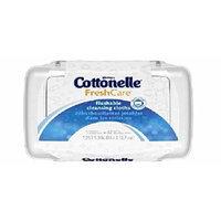 Cottonelle Fresh Care Flushable Moist Wipes Tub 42 Ea Pack of 2
