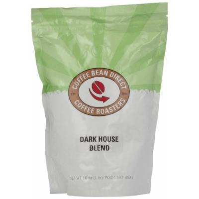 Coffee Bean Direct Dark House Blend, Whole Bean Coffee, 16-Ounce Bags (Pack of 3)